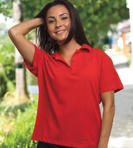 Bayside 1050L - ® WOMENS V-NECK POLO SHIRT