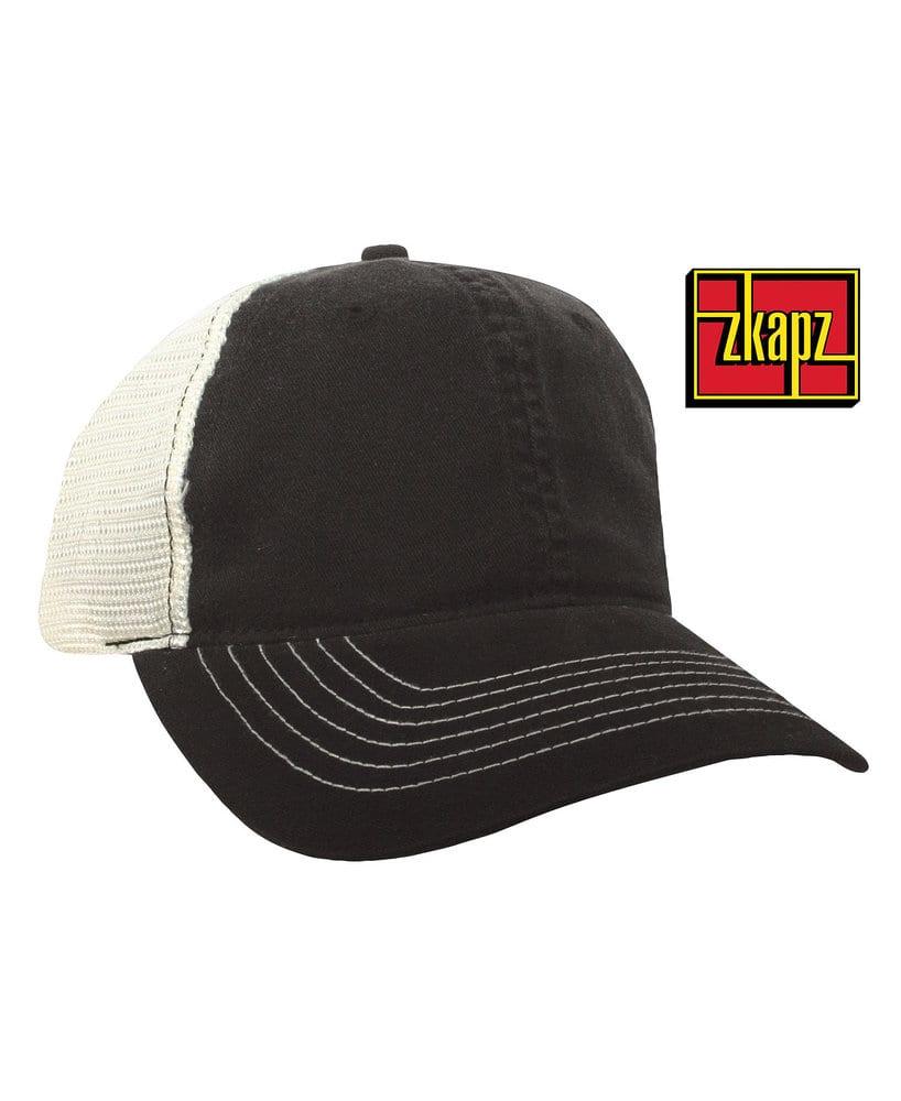 KC Caps ZK641 - ZKAPZ Bio-Washed Cotton Trucker Cap With Soft Mesh Back