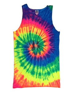 Colortone T376P - Adult Neon Rainbow Tank