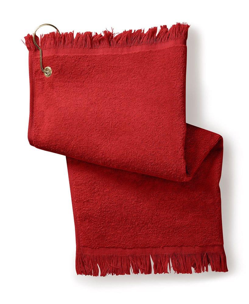 Gildan T60GH - Towels Plus Fringed Fingertip Towel with Corner Grommet