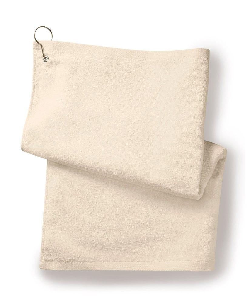 Gildan T68GH - Towels Plus Deluxe Hemmed Hand Towel w/ Corner Grommet &