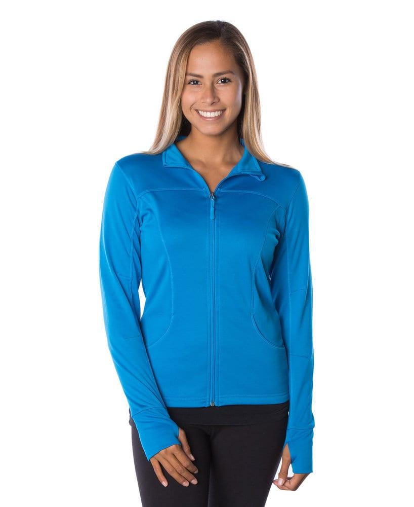 Independent Trading Co. EXP60PAZ - Womens Lightweight Poly-Tech Zip Fleece