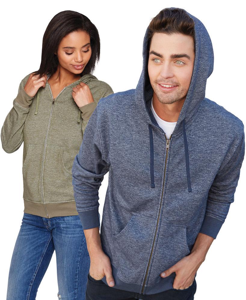 Next Level NL9600 - Unisex Denim Fleece Zip Hoody