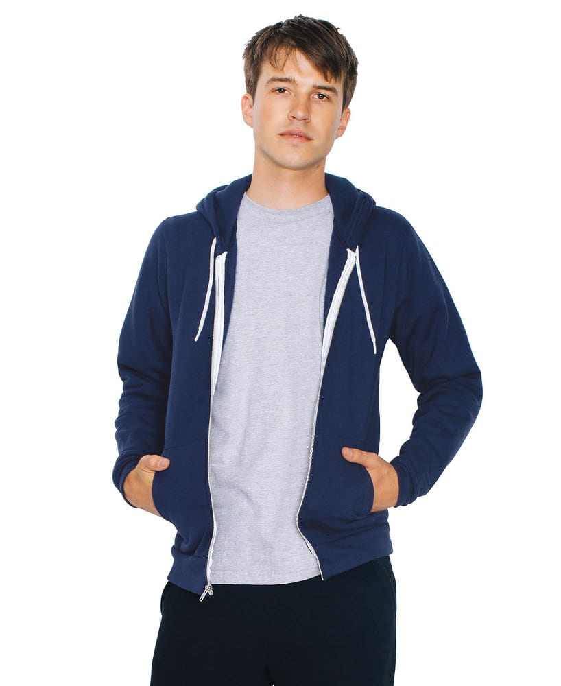 American Apparel AAF497 - USA Unisex Flex Fleece Full Zip Hood