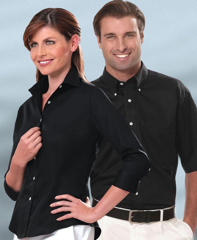 VanHeusen 13V532 - Men's Twill Short Sleeve Dress Shirt