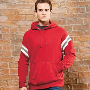 J. America J8847 - VINTAGE ATHLETIC HOODED PULLOVER