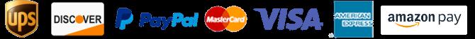 UPS, USPS, Discover, Paypal, Mastercard, Visa, Amex