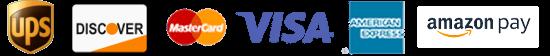UPS, USPS, Discover, Mastercard, Visa, Amex